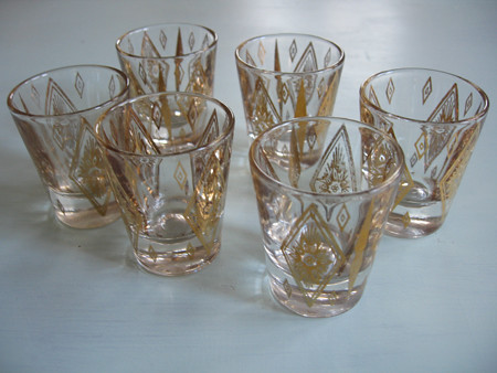 antique shot glasses