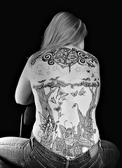 My Back (Kerrie Lynn Photography (Sugaree_GD)) Tags: trees woman moon selfportrait female forest stars back butterflies tattoos views swirls fairies 5000 piece kerrie faeries backpiece amybrown tattooed staceysharp sugareegd keirwells