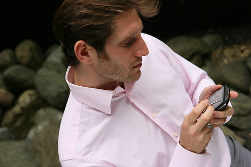 Man using Windows Mobile device with sty by gailjadehamilton, on Flickr