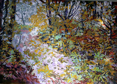 Waterstock (oil sketch) (Martin Beek) Tags: trees art woodland painting woods artist oil catalogue inventory intothewoods 2007 oldwork theforest inthewoods waterstock mybackpages martinbeek woodlandart woodlandandforest martinbeek paintingsdrawingsandartworks art19802008 alifeinart photographyandpainting thecameraandtheartist theinfluenceofphotography martinbeeksworks art19802010