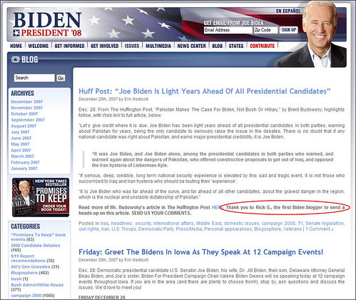 Joe Biden for President Blog