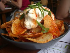 Crispy Potato Skins with Sour Cream and Sweet ...