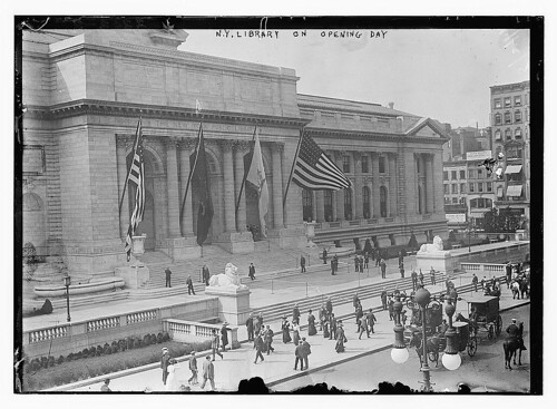 NY public library on opening day