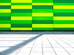 Yellow and Green Rectangles and a Gentle Shadow (yushimoto_02 [christian]) Tags: shadow green yellow horizontal retail architecture canon germany geotagged outdoors photography arquitectura day pattern patterns nopeople supermarket architektur rectangle minimalistic architectura ravensburg gentleshadow yellowandgreenrectangles