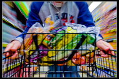 365:51 -  WEEEEeeee (James_Jackson) Tags: food me ride motionblur ralphs cart groceries weeeee colortastic magicarm 365days jamesjackson