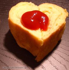 Tamgoyaki a forma di cuore per San Valentino