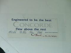 Concorde sign - memories (Geoff_B) Tags: aircraft aeroplane concorde filton 10millionphotos tbgplaygroundforpsychotics
