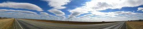 Big skies on the way to Uvlade, Texas, USA