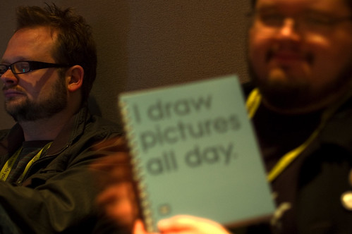 "Greg's ""I draw pictures all day"" notebook"