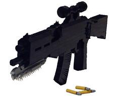 SMG Slasher (Battledog) Tags: life gun lego 11 smg sized slasher