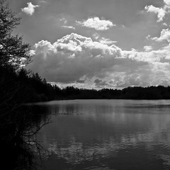 rain to arrive (limerickdoyle) Tags: ireland sky blackandwhite cloud lake landscape limerick countyclare cratloe efs1785mm canon400d