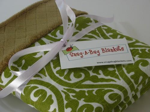 Green Vine Minky Baby Blanket