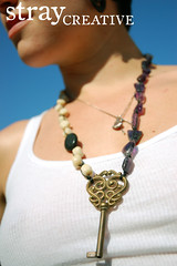 mothers day. (STRAYcreative) Tags: coral necklace handmade oneofakind jewelry amethyst etsy lave skeletonkeys straycreative
