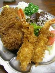 エビフライ+クリームコロッケ(キッチントキワ) Deep fried shrimp + cream crocket