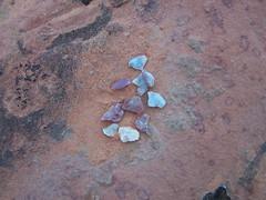 Chert Flakes (Aquila-chrysaetos) Tags: red rock utah spring ancient colorado rocks desert random stuff minerals northamerica geology southernutah redrock prehistoric randomstuff coloradoplateau canyoncountry stonetool