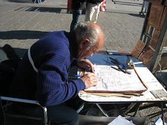 Alberto trabajando.