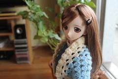 Crochet fever. ;-) (Ninotpetrificat) Tags: doll dd dollfiedream dollfie yukino yukino2ndver japantoy japandoll muñeca puppe crochet lana handmade hausgemacht hobby chal toys hechoamano ropademuñeca dollclothes