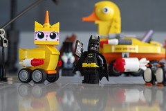 Looks like I'm going to have to report chooooooo.. (city.s) Tags: lego unikitty batman movie deleted scenes moc rubber ducky kitty duckmobile penguin