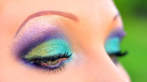 Blue purple urban decay eyeshadow design