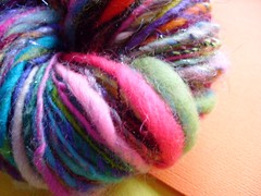 random 1 (16) (rosie.ok) Tags: wool rainbow warm handmade spin craft yarn spinning wooly artisan crafting handspun spun