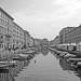 Trieste: canal grande BW