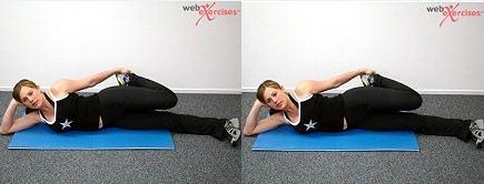 Side Lying Quad Stretch