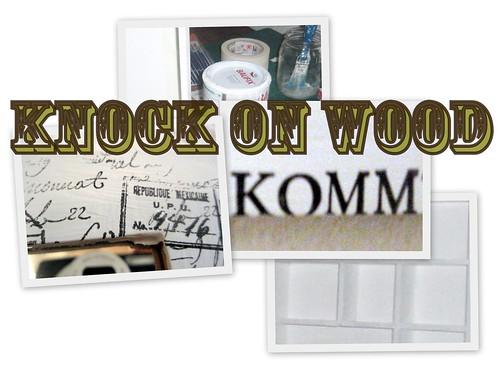 Logo Knock oOn Wood weiß groß