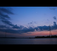 Twilight at Meghna.... (Z A Y A N) Tags: blue red sky cloud moon tower beautiful canon landscape twilight towers sunsetglow dhaka dslr dramaticsky canondslr bangladesh 18mm 550d beautifulbangladesh bhairabbazar meghnariver canoneos550d canoneosrebelt2i rebelt2i canoneoskissx4 zayan1904 gettyimagesbangladeshq12012