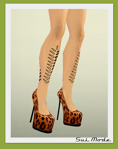BM Yvette Leopard Pump Orange