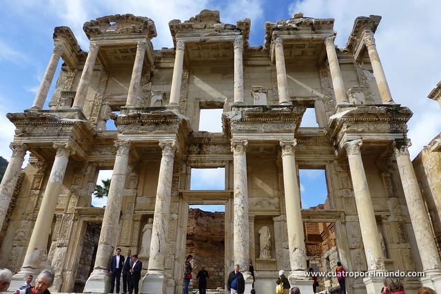 Fachada de la biblioteca de Celso