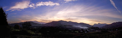 05/10/2007 - Sleepy Elterwater (idgie.) Tags: panorama landscape evening twilight dusk smoke lakedistrict casio sleepy valley cumbria fells ethereal dreamy dreamlike fairyland wispy elterwater langdales exp600