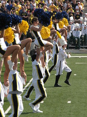 On the Field (bekahlp) Tags: football cheerleaders annarbor uofm emu bighouse universityofmichigan wolverines collegefootball easternmichigan drummajor big10 goblue