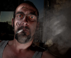 Day020 (Matt Durben) Tags: portrait photoshop crazy scary nuts manipulation funky smoking wicked massive unreal spacy powerful dragan whack davehill keen vigorous draganizer jimfiscus mattdweb