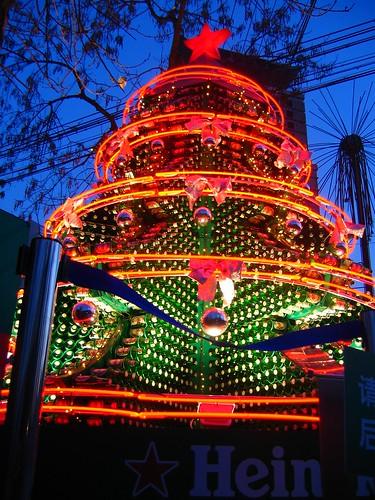 árbol navidad cerveza Heineken