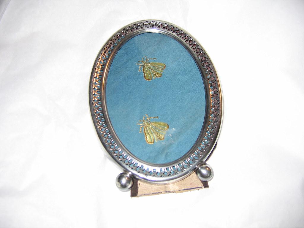 Sterling Silver Photo Frame (pierced oval)