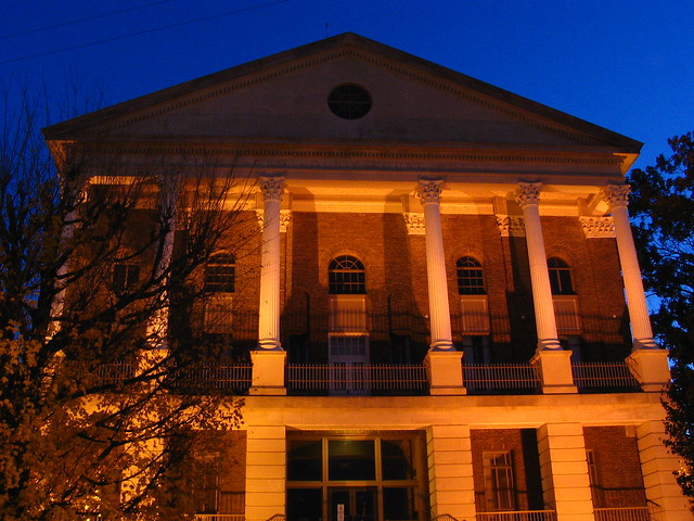 Bedford Co. Courthouse #5 front at dusk
