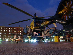 Reload (scatteredView) Tags: night fb air ambulance helicopter medicine care ems critical hems eurocopter ec135 medevac medstar