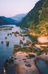 Bridge view (Hilco666) Tags: travel bridge sunset sun river island islands asia backpacking traveling laos noi azie reizen muang backpacken hilco666