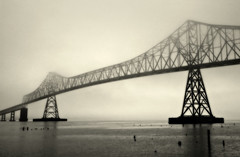 Astoria-Megler Bridge, Astoria,Oregon (Robert_Brown [bracketed]) Tags: bridge bw brown white black robert oregon canon river photography washington columbia astoria 5d toned megler astoriamegler