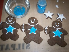 Gingerbread men for a Dallas Fan