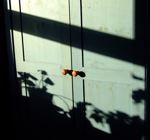 shadows on doors