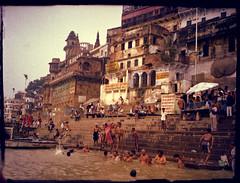 Varanasi_9 (acha.baba) Tags: india trash lofi retro varanasi halfframe hindu decadence ganga ghat expiredfilms fedmicron