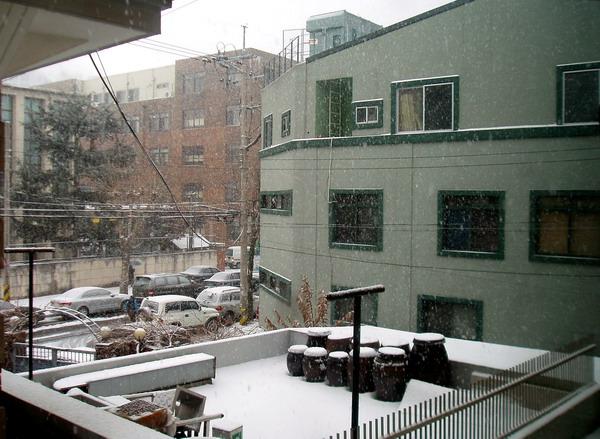 It's snowing morning Dec. 31st