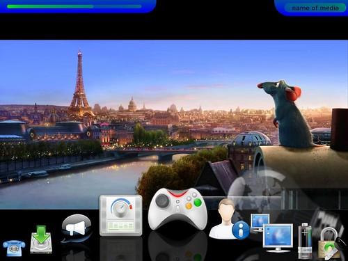 LinuxMCE mock-up for KDE4
