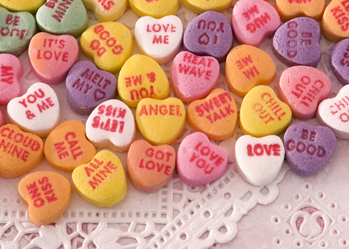 Candy hearts by KM Anderson.