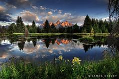 Schwabauchers in a New Light (James Neeley) Tags: mountains reflection nature landscape pond quality grandtetons tetons hdr 5xp flickr5 jamesneeley frhwofavs schwabaucherslanding