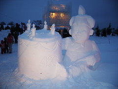 Sculpture sur neige (joadc) Tags: de québec carnaval 2008