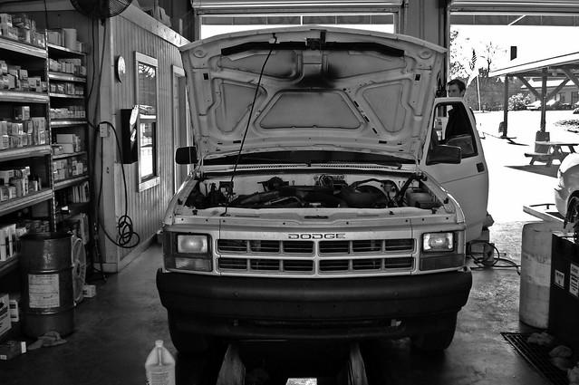 bw white black truck pickup 1993 dodge dakota 123bw