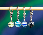 Handmade Stitch Markers - Marbles