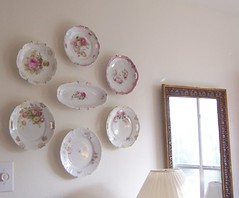 Plates (nbklx17 (Sandy)) Tags: china pink roses white wall vintage design antique interior collection diningroom plates decor cottagestyle interiordesign homesweethome pinkroses chinacollection antiqueplates wallgrouping